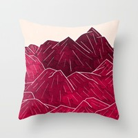 Ruby Mountains Throw Pillow by Steve Wade ( Swade)