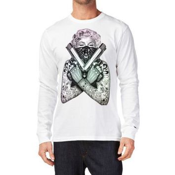 Marilyn Monroe Gangster Long Sleeve Shirt