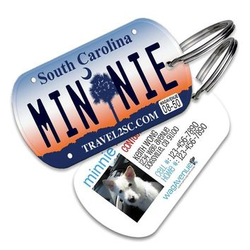South Carolina License Plate Pet Tag