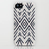 Geometric whatever iPhone Case by duckyb