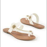 Blue Floral toe strap flat  from VENUS