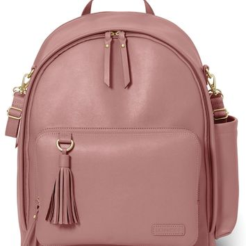 Skip Hop Greenwich Simply Chic Baby Diaper Bag Backpack Changing Pad Dusty Rose