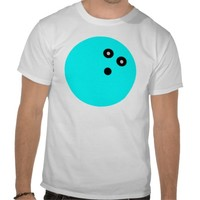 Blue Bowling Ball Tshirt from Zazzle.com