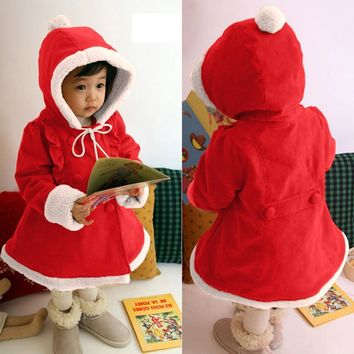 LL Long Sleeve Children's Christmas Coat