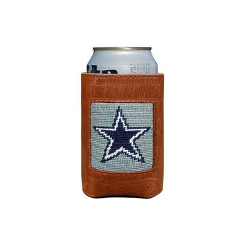 Dallas Cowboys Needlepoint Can Holder by Smathers & Branson