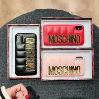 """Moschino"" 2018 New Fashion Trend iPhone / 8 / 6S Hard Case Phone Case F"