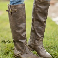 Outlaw Knee High Boots in Chocolate