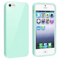 Zeimax® iPhone 5 5S Glaring Slim Jelly Gloss Flexible Soft Slim-fit TPU Case - Type 1 (Turquoise)