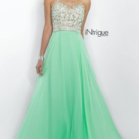 Mint Green High Neck Prom Dress Intrigue by Blush