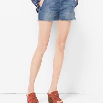 Washed-Denim Shorts | Michael Kors