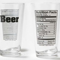Health Guide Cups - The Beer Nutrition Pint Glass has the Info of Your Favourite Drink (GALLERY)