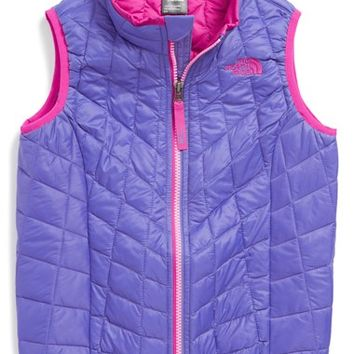 The North Face Toddler Girl's 'ThermoBall' PrimaLoft Water Resistant Vest,