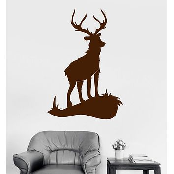 Vinyl Wall Decal Deer Animal Hunting Room Art Stickers Unique Gift (ig3470)
