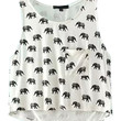 Elephant Print Crop Top