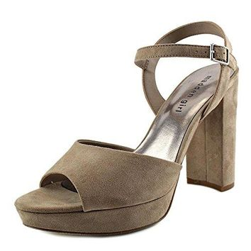 Madden Girl Womens Shaarp Fabric Open Toe Casual Slingback Sandals