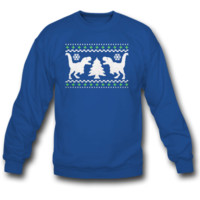 T-REX AND CHRISTMAS TREE SWEATSHIRT CREWNECK