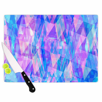 "Suanne Carter ""Geo Prism2"" Pink Blue Cutting Board"