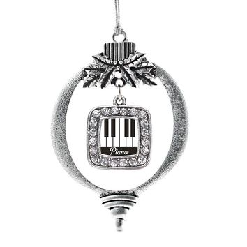 Piano Lovers Square Charm Holiday Ornament