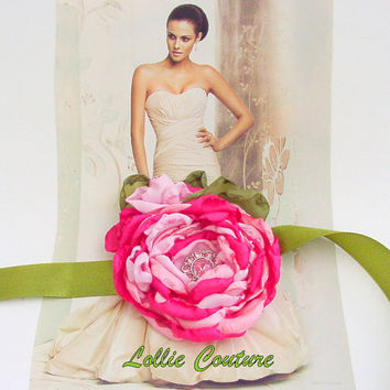 Corsage Flower Corsage Wedding Corsage Fabric by lolliecouture