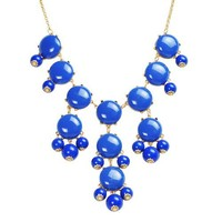 Bubble Necklace,Statement Necklace, Bubble Jewelry(Fn0508-Blue) | AihaZone Store