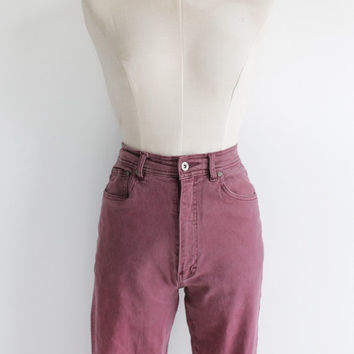 Vintage 90s Berry Pink High Waisted Denim Bill Blass Jeans