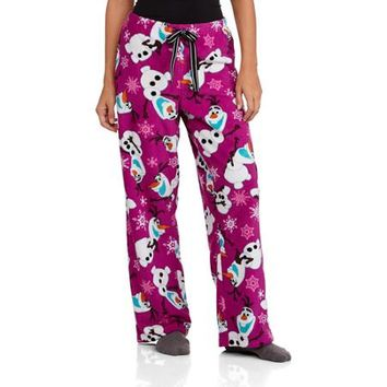 Women's Olaf Plush Sleep Pants - Walmart.com