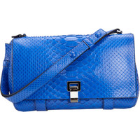 Proenza Schouler PS Courier Matte Python at Barneys New York at Barneys.com