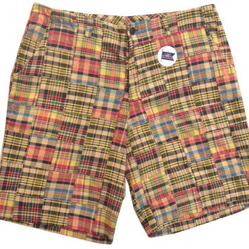 Madras Plaid Patchwork Bermuda Shorts in Montauk by Just Madras