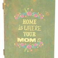 Natural Life 'Home Is Where Your Mom Is' Wooden Book Box | Nordstrom