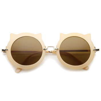 Women's Spiked Round Sunglasses A087