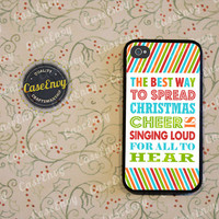 Buddy The Elf Christmas Cheer Quote Phone Case! Choose iPhone 4 / 4s / 5 / 5s or Galaxy S3 / S4