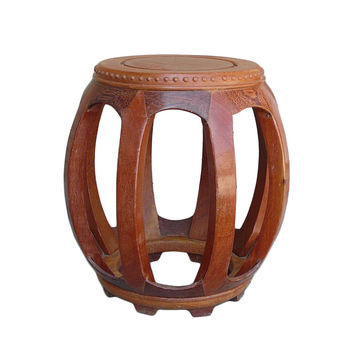 Chinese Solid Wood Huali Barrel Round Stool cs853S