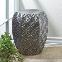 Elegant Silver Symmetry Stool