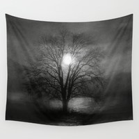Black and White - Beautiful inspiration Wall Tapestry by Viviana Gonzalez