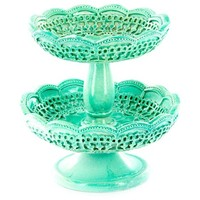 Glossy Turquoise 2-Tiered Ring Holder | Shop Hobby Lobby