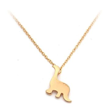 Cute Gold Silver Small Dinosaur Necklace