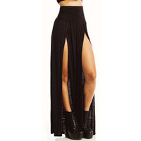 Sincerely Exclusive — Double Split High Waist Maxi Skirt
