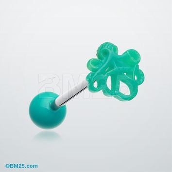 Evil Octopus Acrylic Barbell Tongue Ring
