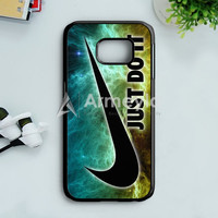 Nike Just Do It Galaxy Nebula Samsung Galaxy S7 Edge Case | armeyla.com