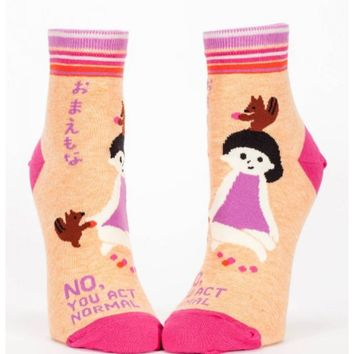No, YOU Act Normal Women's Ankle Socks