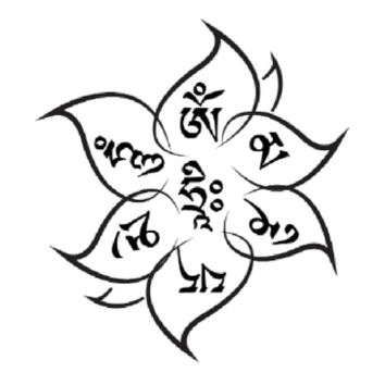 Om Mani Padme Hum Temporary Tattoo