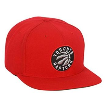 ONETOW Toronto Raptors Mitchell & Ness NBA Current Wool Solid 2 Snapback Cap Red