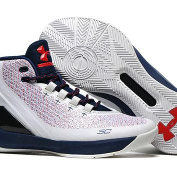 HCXX Men's Under Armor Curry 3 Basketball Shoes White Pink 40-46