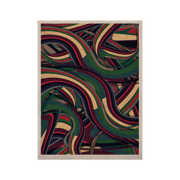 "Danny Ivan ""Swirl Madness"" Dark Geometric KESS Naturals Canvas (Frame not Included)"
