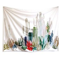 """Cactus Landscape Wall Tapestry Mandala Tapestry Bohemian Tapestry Cactus Tapestry Watercolor Tapestry Indian Wall Decor Hippie Tapestry Headboard Home Decor (M-51.2""""X 59.1"""", SG204)"""