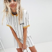 Sacred Hawk Embroidered Ringer T-Shirt Dress at asos.com