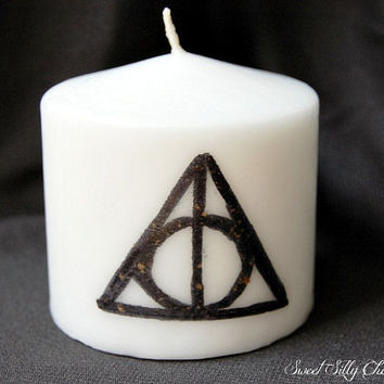 Deathly Hallows Candle, Harry Potter Candle, Harry Potter Deathly Hallows Home Decor, Harry Potter Gift