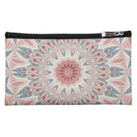 Striking Modern Kaleidoscope Mandala Fractal Art Makeup Bag