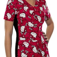 Buy Flexibles Women Hello Kitty Faces V-Neck Scrub Top for $22.45