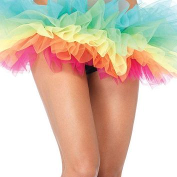 DCCKLP2 Rainbow organza tutu in MULTICOLOR